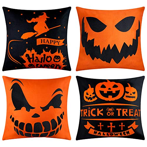 Spooky Halloween Pillow Covers Set