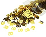 bling table numbers - Gold Number 50 50th Anniversary Or Birthday Table Sequins Confetti for DIY Crafts And Party Supplies 1 Ounce by ZXSWEET