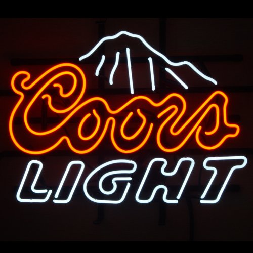 Coors Light Neon Light Signs Beer Bar Pub Display Neon Signs Neon Handicrafted Real Glass Tube19x15 (San Francisco 49ers Neon Sign)