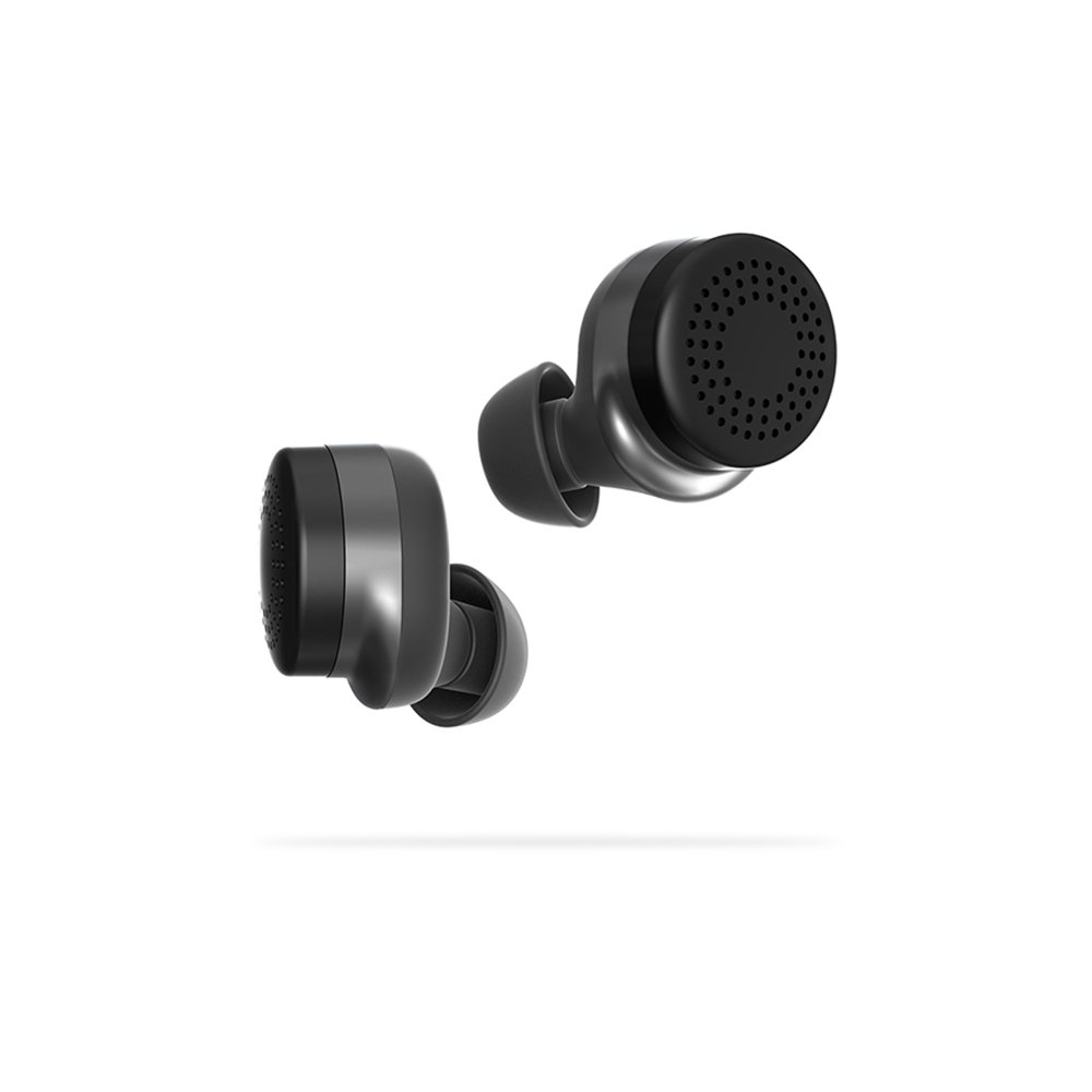 Here One Wireless Smart Earbuds: 3-in-1 Noise Cancelling & In Ear Bluetooth Headphones - iPhone Compatible (Black)