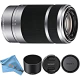 Sony E 55-210mm F4.5-6.3 OSS Lens for Sony E-Mount Cameras (Cloth Only, Silver)