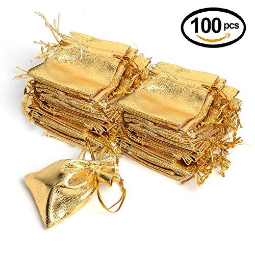 Gold Wedding Favor Bags - 3