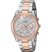 Fossil Women's Quartz Stainless Steel Automatic Watch, Color:Two Tone (Model: ES4135)
