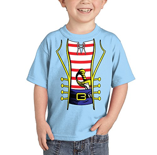 Toddler/Infant Pirate Costume T-shirt (3T, LIGHT BLUE)