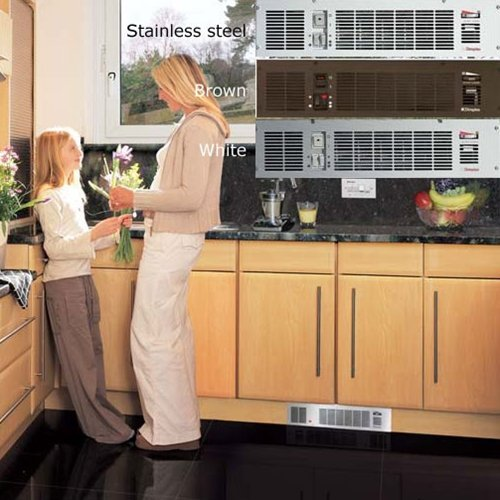 Dimplex BFH24BWST 2.4kW Base Unit Heater C/w Integral Controls U0026 White/Brown