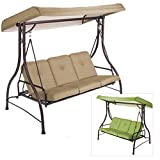 Garden Winds OPEN BOX Lawson Ridge 3-Person Swing Replacement Canopy Top Cover – RipLock