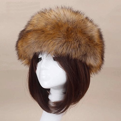 Toddler Pimp Halloween Costumes (MONOMONO-Winter Fox Fur Hat Fur Cap Men/Women Hat Fur Top Headdress (coffee))