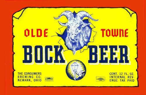 "ArtsyCanvas Olde Towne Bock Beer 48"" x 32"" Fabric Wall Sticker"