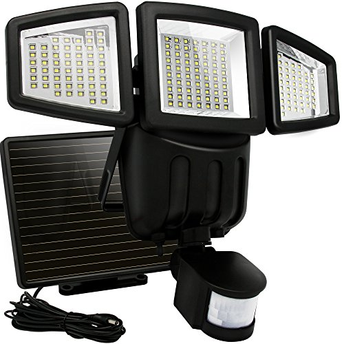 Led Motion Sensor Dual Solar Flood Lights