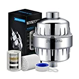 Fangkun Shower Filters, 10-Stage Hard Water Softener With 2 Replaceable Cartridges - Fit Most Shower Head and Handheld Shower, Removes Chlorine, Flouride, Heavy Metals for Your Skin, Hair, Nails Healt