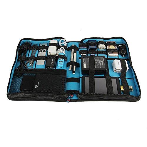 Khanka Universal Electronics Accessories Carrying Travel Organizer / Hard Drive Case Bag / Power Bank / Memory Card / Cable organizer (Medium) by Khanka (Image #2)