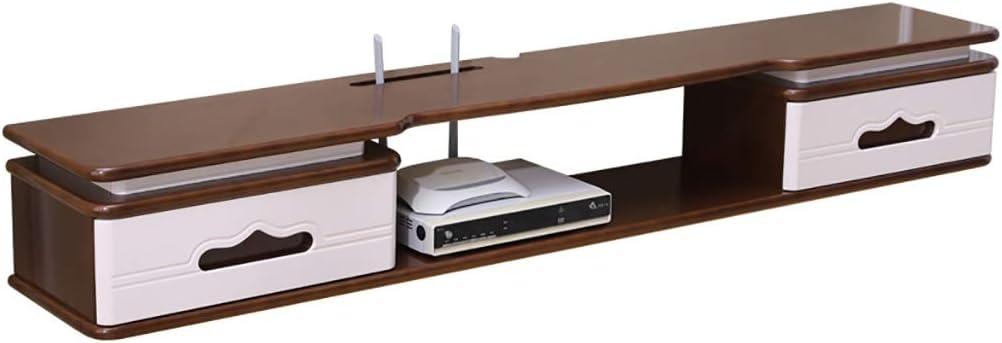 Estante flotante Madera Maciza Pared Mueble de televisión Colgando gabinete de la TV Sala de Estar Minimalista Moderna del gabinete habitación Colgando de Mini Madera Maciza nórdica: Amazon.es: Hogar