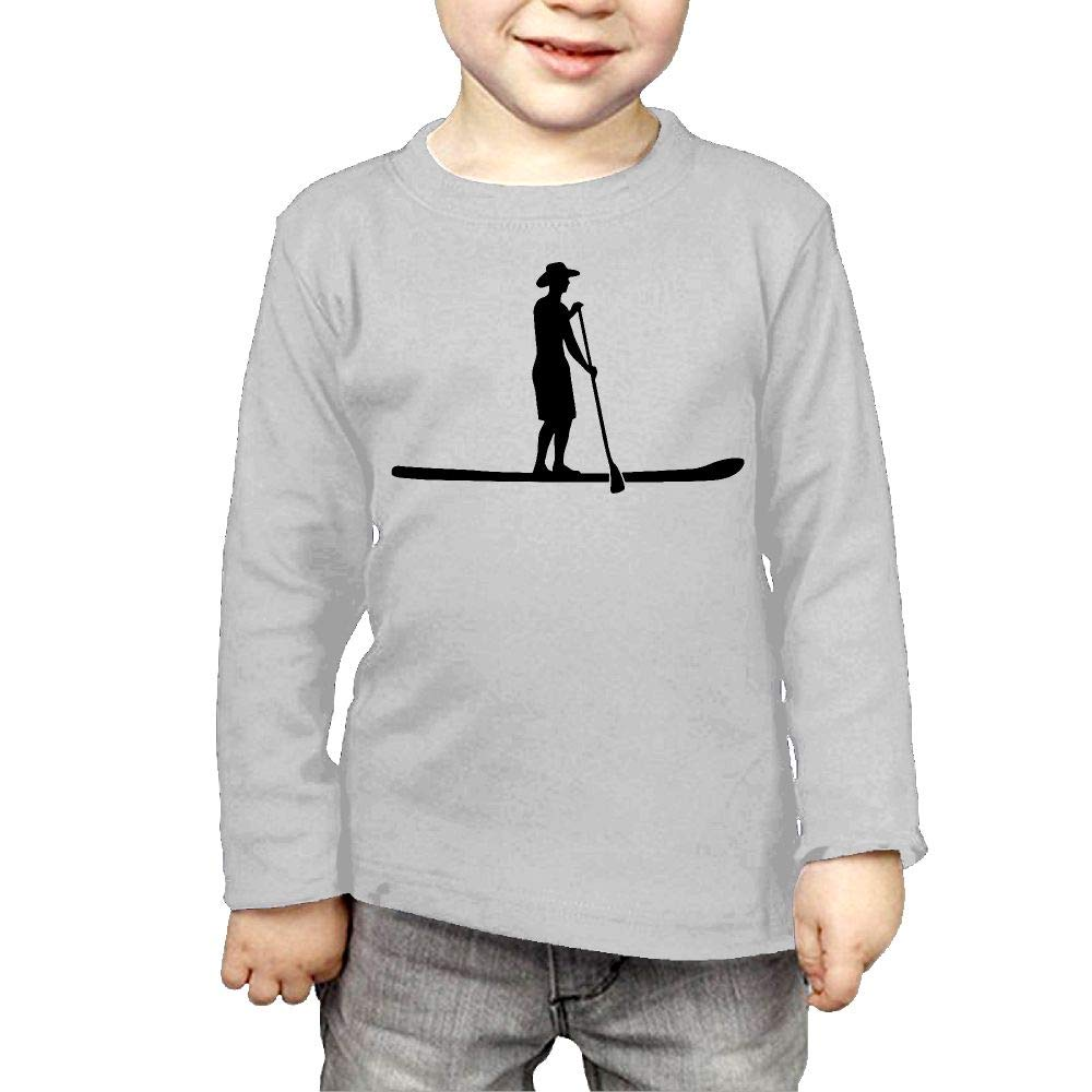 Fryhyu8 Toddler Childrens Evolution Stand Up Paddling Printed Long Sleeve 100/% Cotton Infants Tops