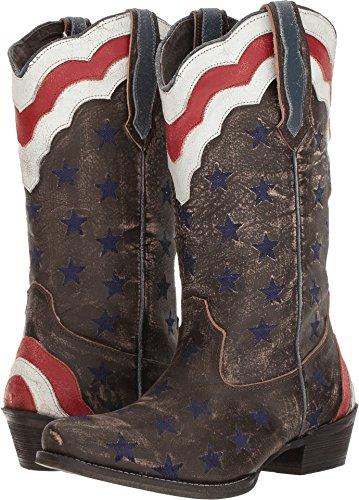 Roper Women's Stars and Stripes Western Boot, Brown, 10 D US (Roper Stars)