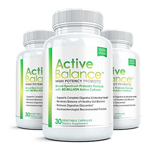 Active Balance - Pharmaceutical Grade Probiotic Supplement (3 bottle) - Contains 50 billion (Active Strengthening System)