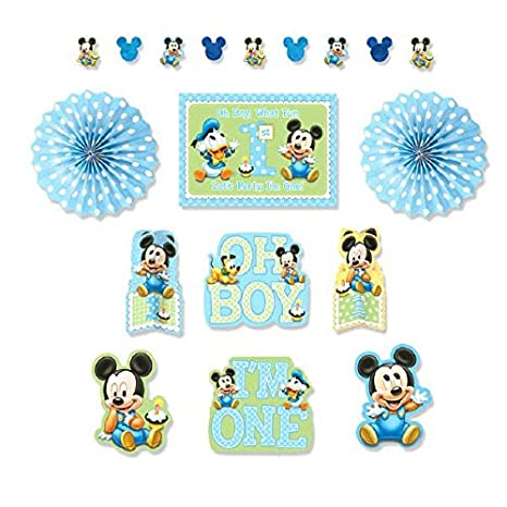 Image Unavailable Not Available For Color Mickeys 1st Birthday Decoration Kit