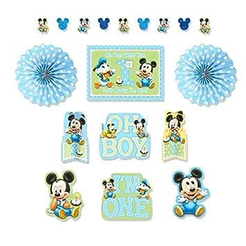 Amazoncom Mickeys 1st Birthday Decoration Kit Toys Games