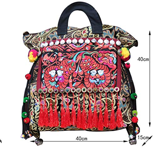 Broder 40cm Taille Fait 15 De Taille à ZHAOHUIFANG Originale Sac Main Broderie 40 gqwEE7z