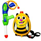 Random Color Water Gun Bee Water Pistol Backpack Water Cannon Kids Super Soaker