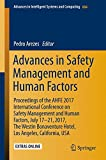 img - for Advances in Safety Management and Human Factors: Proceedings of the AHFE 2017 International Conference on Safety Management and Human Factors, July ... in Intelligent Systems and Computing) book / textbook / text book