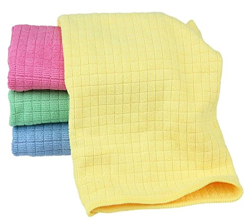 Firheas Tidy Drying Rags Assorted Colors 3040cm 4 Pack Quick