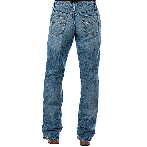 Cinch Men's Carter 2.0 Light Stonewash Relaxed Fit Jeans Boot Cut Indigo 28W x 30L (Mens Cinch)