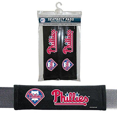 (Fremont Die MLB Philadelphia Phillies Seat Belt Pad (Pack of 2), One Size, White)