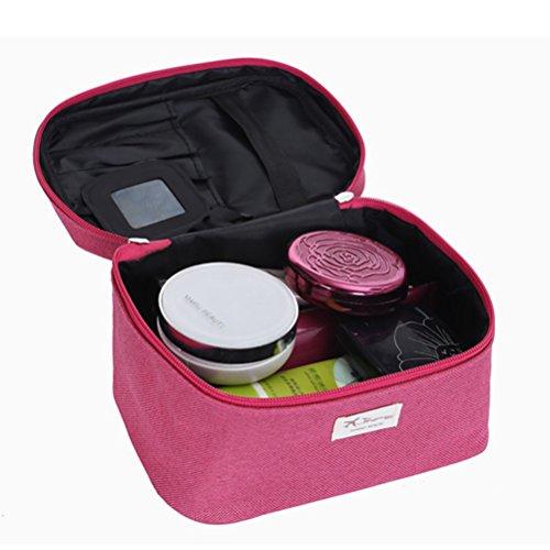 Frcolor Borsa per Cosmetico Viaggio Trucco Trousse Organizzatore Supporto con Specchio
