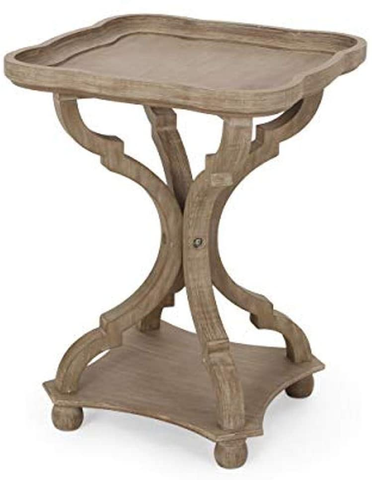 Christopher Knight Home Emerald French Country Accent Table with Square Top, Natural