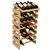 24-Bottles Wine Rack in Unfinished Finish