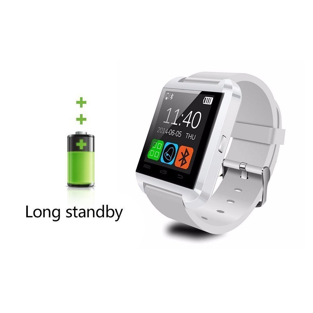 Smart Watch Smartwatch teléfono U8 Bluetooth Reloj Inteligente para Huawei P20, P20 Lite, P20 Pro Blanco: Amazon.es: Electrónica
