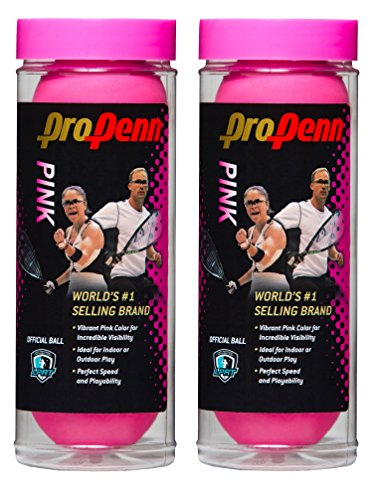 HEAD ProPenn Pink Racquetballs - 3 ball can (2) by Penn (Image #1)