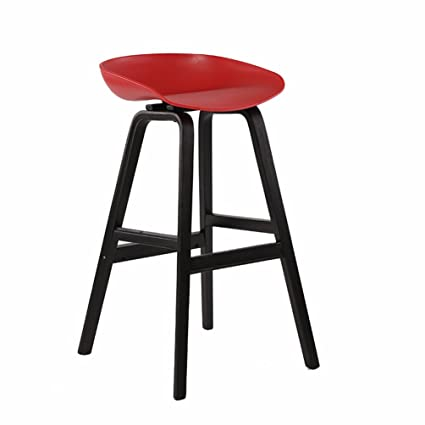 Solid Wood Bar Chairs, Home Decoration Casual Stool Restaurant Counter Chair  Club House Liftable Stool