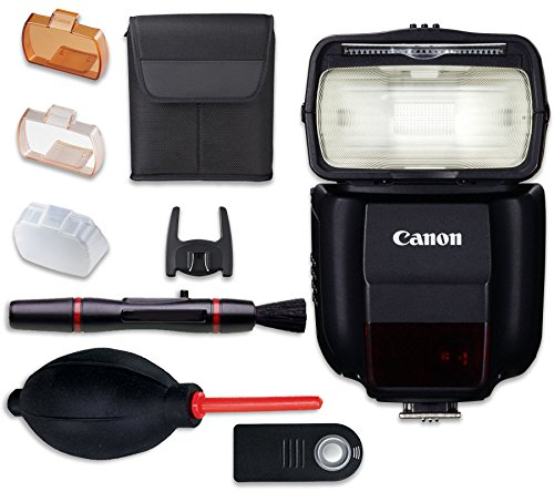 - Canon Speedlite 430EX III-RT Flash with Cleaning Pen + Dust Blower + Remote Control