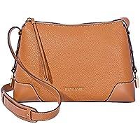 Michael Kors Crosby Medium Pebbled Leather Messenger Bag (Acorn)