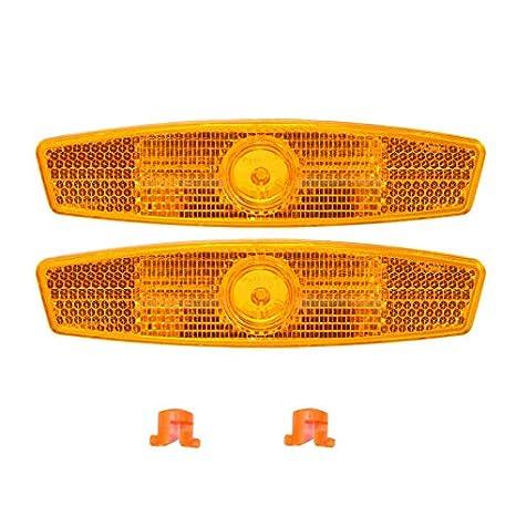 Bicycle Bike Wheel Safety Spoke Reflector Mount Clip Warning Reflector Light