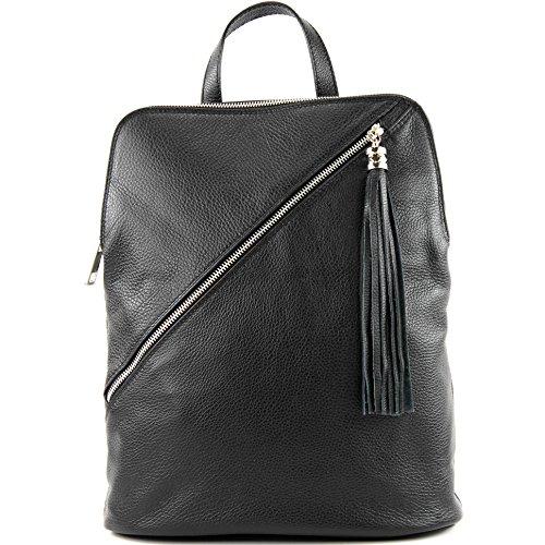 modamoda de - Made in Italy - Bolso mochila  para mujer T161 Schwarz