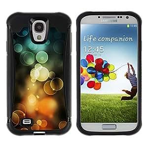 Suave TPU GEL Carcasa Funda Silicona Blando Estuche Caso de protección (para) Samsung Galaxy S4 IV I9500 / CECELL Phone case / / Orange Bubbles Spring Sun Summer /