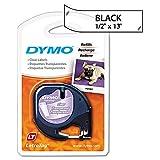 Dymo DYM16952 LetraTag Plus LT-100T Plastic Labels, 1/2'' x 13ft, Clear