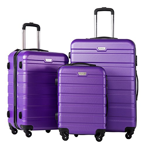 Coolife-Luggage-3-Piece-Set-Suitcase-Spinner-Hardshell-Lightweight