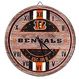 FOCO Cincinnati Bengals NFL Barrel Wall Clock