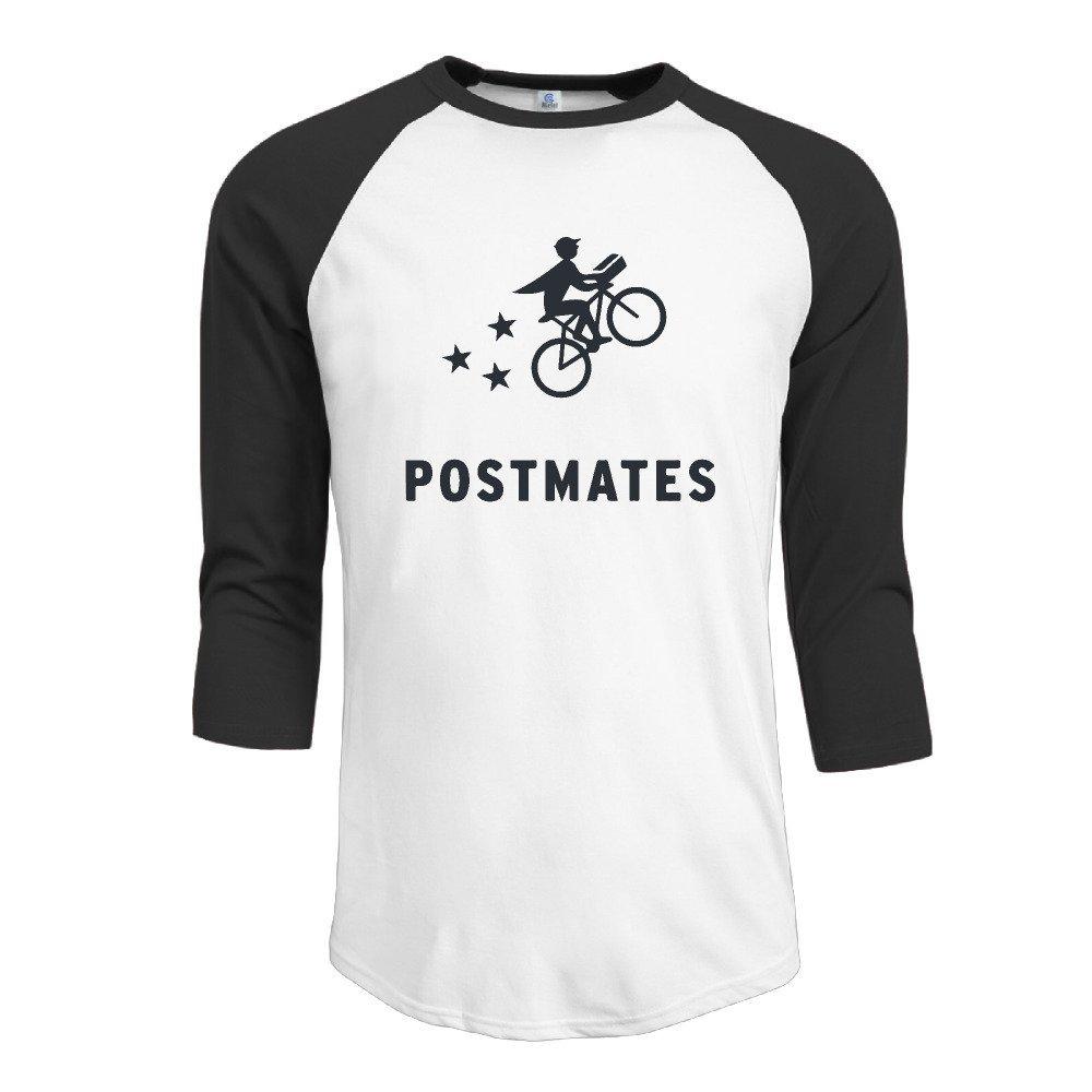 Men's 3/4 Postmate With Bicycle Sleeve Raglan T-Shirt Black