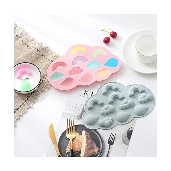 UMTGE - Vaschetta per cubetti di ghiaccio, in silicone e flessibile, 11 vassoi per ghiaccio, per bambini, con caramelle… 6 spesavip