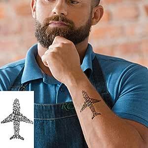 ljmljm 6 Piezas Impermeable Tatuaje Pegatina polígono brújula ...