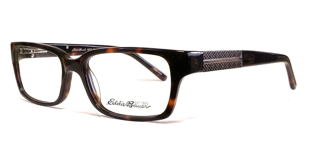 Eddie Bauer Designer Reading Glass Frames EB8302 in Tortoise ; Demo Lens