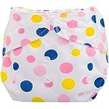 Tefamore Pañales Bebé recién nacido Paño de verano lavable reutilizable ajustable