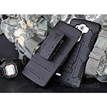 LG G4 Case, Cocomii Robot Armor NEW [Heavy Duty] Premium Belt Clip Holster Kickstand Shockproof Hard Bumper Shell [Military Defender] Full Body Dual Layer Rugged Cover (Black)