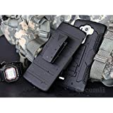 LG G4 Stylus / LG G4 Note Coque, Cocomii Robot Armor NEW [Heavy Duty] Premium Belt Clip Holster Kickstand Shockproof Hard Bumper Shell [Military Defender] Full Body Dual Layer Rugged Cover Case Étui Housse LS770 H631 MS631 (Black)