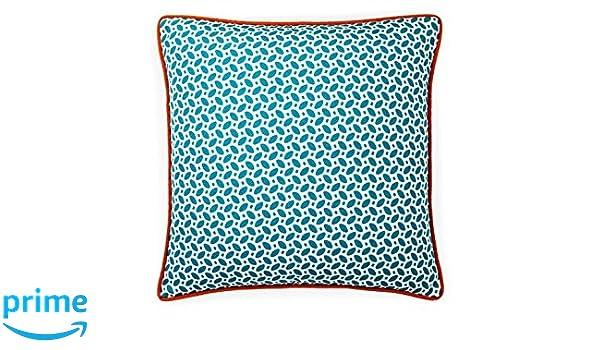 Amazon Com Jiti Pik Pak Blue Orange Outdoor Throw Pillow 20 By 20