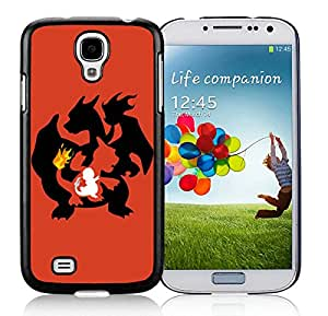Beautiful Designed Cover Case For Samsung Galaxy S4 I9500 i337 M919 i545 r970 l720 With Charmander Pokemon Black Phone Case